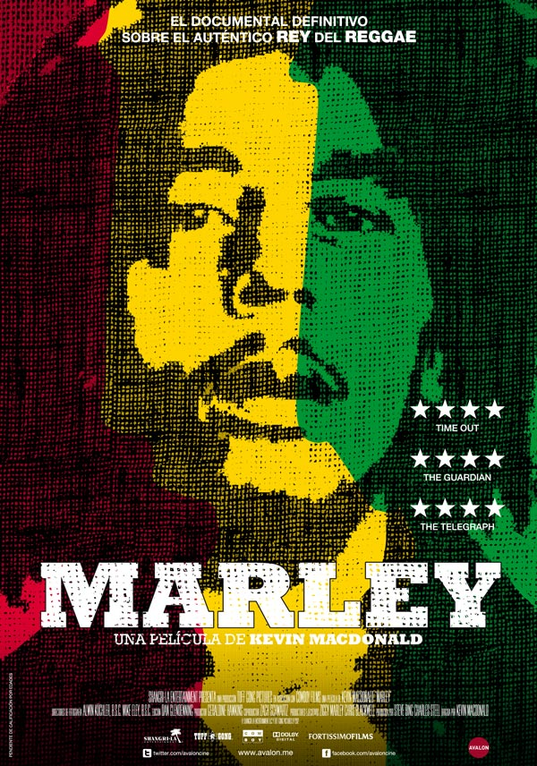 Cartel del documental Marley